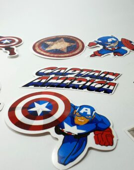 Captain America Stikeri za laptop telefon kofer sto 5