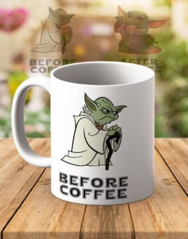 Baby Yoda Before After Coffee Solja