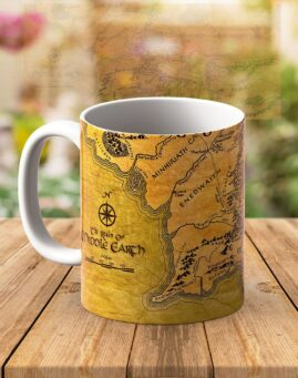 Lord of the Rings Gospodar Prstenova Middle Earth Mapa Srednje Zemlje Solja