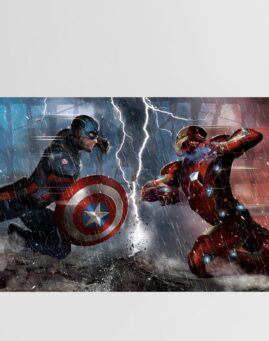 Captain America vs Iron Man Poster