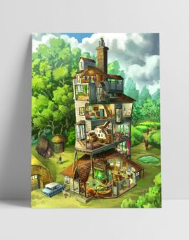Harry Potter Poster Burrow 30x40 1